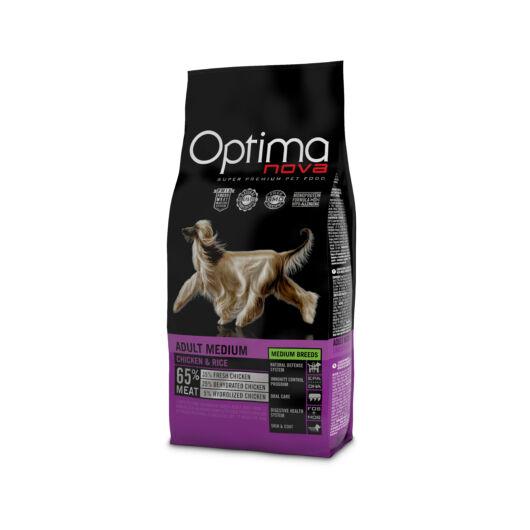 Visán Optimanova Dog Adult Medium Chicken & Rice (26/16)